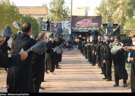 مراسم روز عاشورا با رعایت پروتکلهای بهداشتی در شهرهای خوزستان برگزار شد