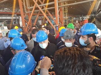 گزارش بازدید رییس مجلس شورای اسلامی از شرکت لوله سازی اهواز