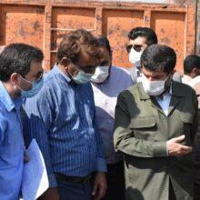 گزارش تصویری بازدید استاندار خوزستان به همراه مدیر کل مدیریت بحران از وضعیت پروژههای فاضلاب غرب اهواز