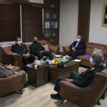 دیدار جمعی از فرماندهان سپاه پاسداران با استاندار خوزستان