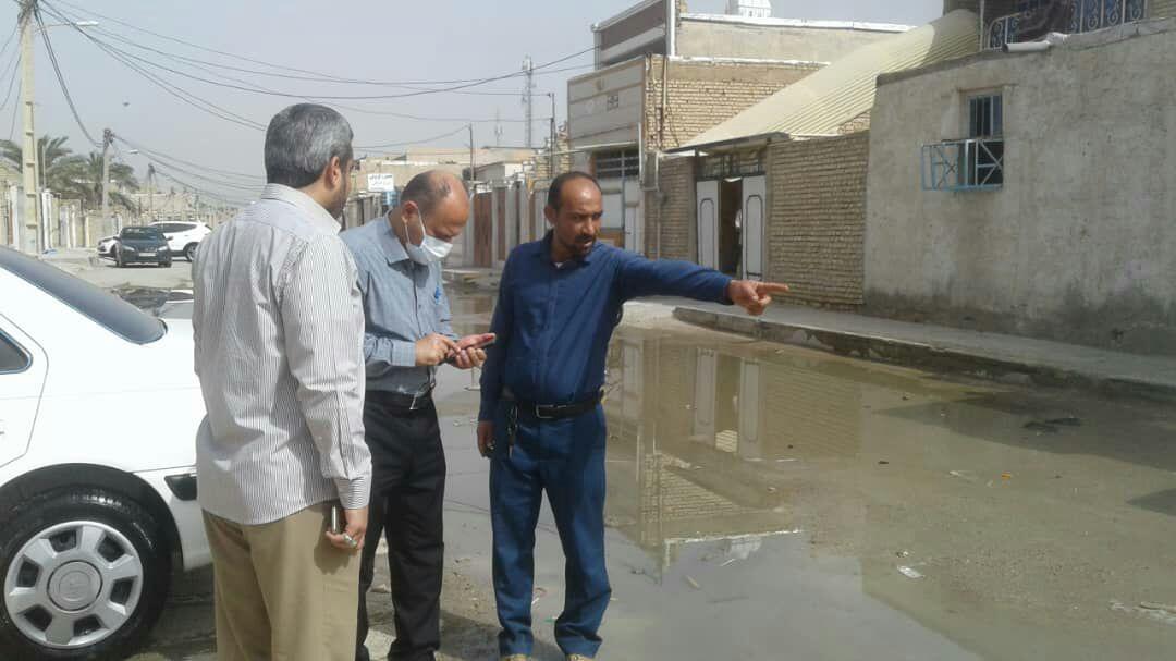 بازدید و پیگیری مطالبات شهروندان منطقه سه در حوزه ی آبفا