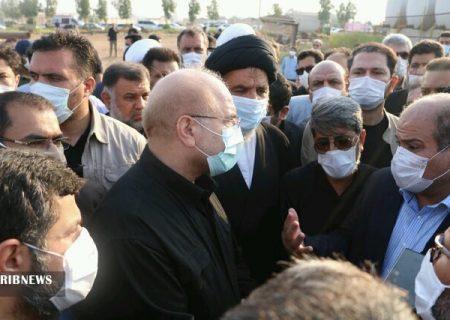 عزم و اراده قوی رئیس مجلس برای حل مشکلات خوزستان