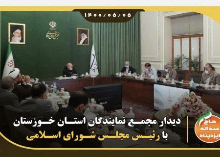 دیدار مجمع نمایندگان استان خوزستان با رئیس مجلس شورای اسلامی